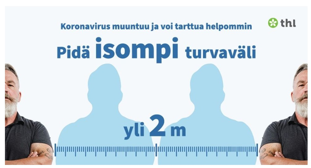 THL Muuntunut koronavirus infograafi